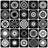 Dekorativa designelement. mönster set. — Stockvektor