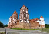 Gothic castle in Mir (Belarus). — 图库照片