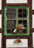 Window of half-timber medieval house. — Stock Photo