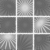 Circle and rotation. Abstract backdrops set. — Stock Vector