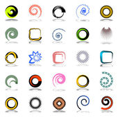 Design elements set. Abstract icons. — Stock Vector