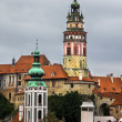 Towers of Cesky Krumlov, Czech Republic. - Stock Photo