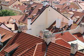 Tiled roofs of Prague, Czech Republic. — Stock Photo