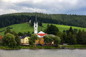 Frymburk at Lipno lake in Czech Republic. — Stock Photo