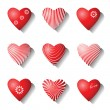 Heart icons. Valentine design elements. — Stock Vector #19049299