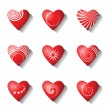 Stock Vector: Heart icons. Valentine design elements.