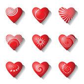 Heart icons. Valentine design elements. — Stock Vector