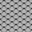 "Seamless geometric pattern in ""fish scale"" design. - Stock vektor"