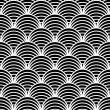 "Seamless geometric pattern in ""fish scale"" design. - Stockvektor"