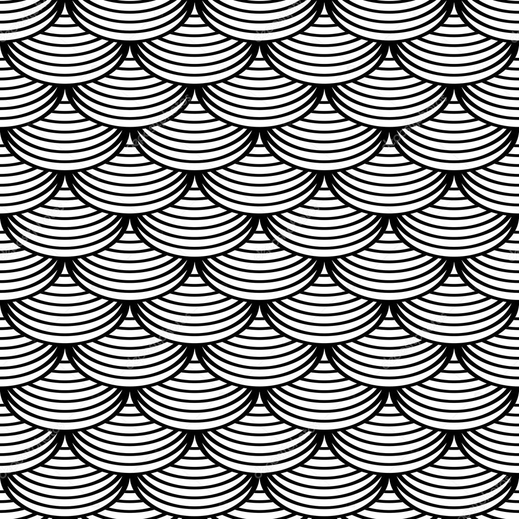 Fish Pattern Drawing Pattern in Fish Scale