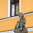 Medieval sculpture on a street of Frymburk, Czech Republic. — Stock Photo