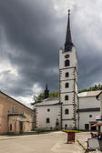 Catholic church in Frymburk, Czech Republic. — Stock Photo