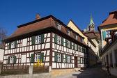 Bamberg, almanya yarı ahşap bir evde. — Stok fotoğraf