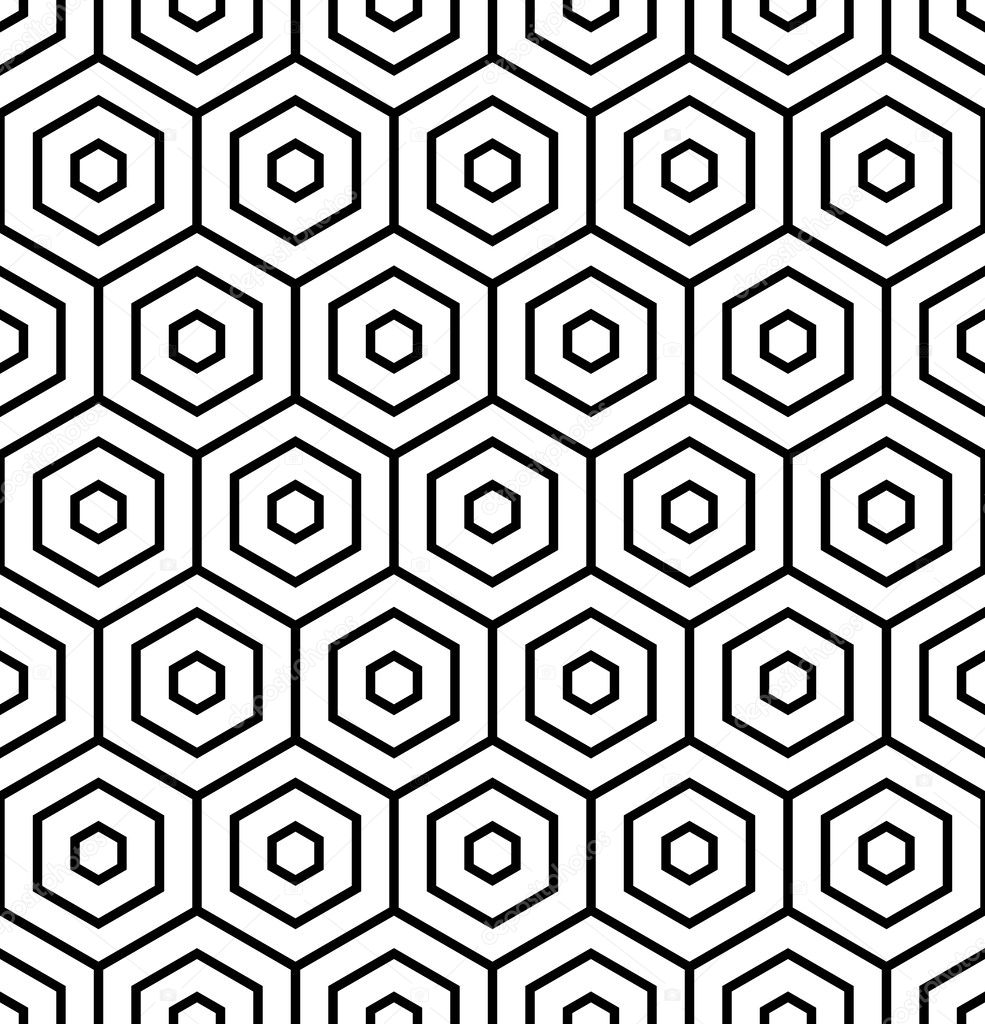 Hexagons texture. Seamless geometric pattern. — Stock Vector ...