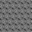 Seamless pattern with spiral elements.  — Stock Vector