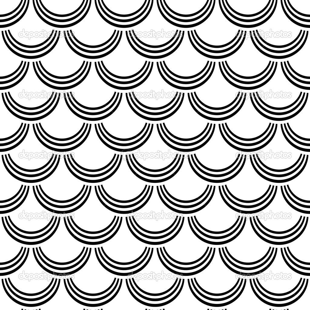 Fish Pattern Drawing Seamless Pattern Fish Scale