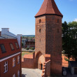 Stock Photo: Gothic fortification tower in Lembork, Poland.