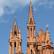 Gothic towers of St. Anna's Church in Vilnius, Lithuania. — Stock Photo