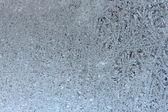Texture of frosted glass. Winter background. — Stock Photo