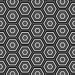 Hexagons texture. Seamless geometric pattern. — Stock Vector