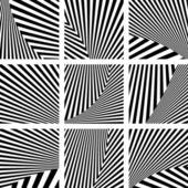 Set of backdrops in striped design. — Stock Vector