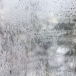 Texture of frosted glass. winter textured background. — Stock Photo #40076693