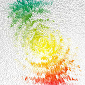 Abstract multicolor radiate outburst. Illustration. — Stock Photo