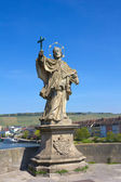 Statue of St John of Nepomuk in Wurzburg, Germany. — Stock Photo