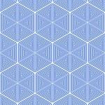 Stars and hexagons pattern. Seamless geometric texture. — Stock Vector