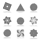 Design elements set. Abstract graphical icons. — Stock Vector