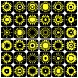 Stars and suns abstract icons. Design elements set. — Stock Vector #45911609
