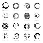 Spiral and rotation design elements.  — Stock Vector