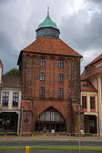 The New Gate (Nowa Brama) 14th century in Slupsk, Poland. — Stock Photo