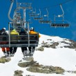 Ski lift - Stock Photo