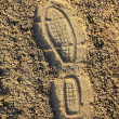 Stock Photo: Footprint