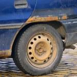 Rusty Wheel — Stock Photo
