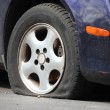Stock Photo: Flat Tire