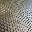 Shiny metal hole mesh pattern — Stock Photo