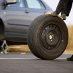 Tyre Change — Stock Photo