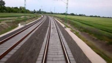 Железная дорога — Стоковое видео