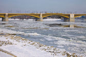 Winter donau — Stockfoto