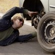 Tyre Change — Stock Photo
