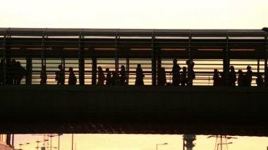 Städtischen publikum — Stockvideo