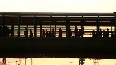 都市の群衆 — ストックビデオ