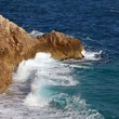 Waves on cliff — Stock Photo #45796037