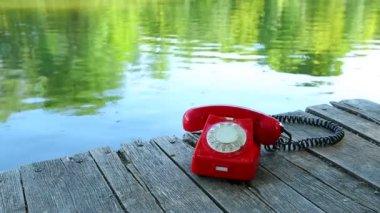 Phone outdoors — Stok video