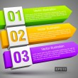 Abstract numbered banners 3D — Vector de stock