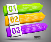 Abstract genummerd banners 3d — Stockvector