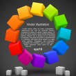 Colored cubes 3D - Stock Vector