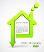 Green house icon — Stock Vector